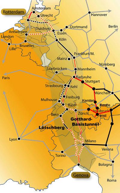 entwicklung güterverkehr europa